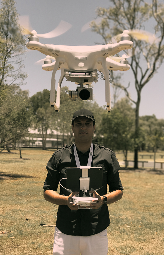 Ashley Cripps Licensed UAV Drone operator Sunshine Coast